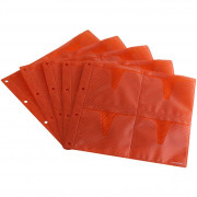 Zomo CD Sleeves Premium 10 x 8 CDs - orange
