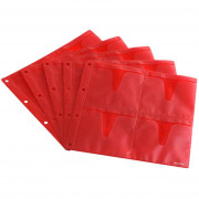 Zomo CD Sleeves Premium 10 x 8 CDs - red