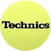 Technics Slipmats Yellow/Black